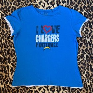 I Love Chargers Football Tee